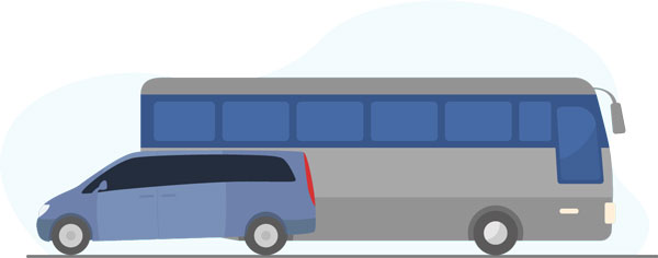 Coach and minibus hire graphic
